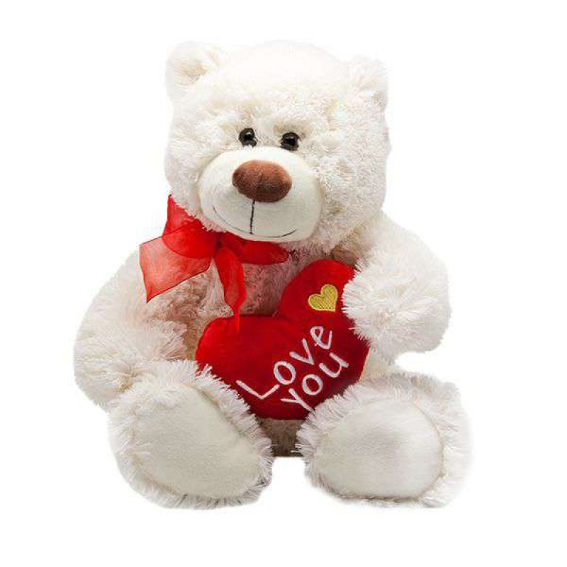 Hay Hay Chicken Stuffed Animal, Buy Big 15 Inch White Fluffy Teddy Bear Holding Love You Heart Online At Lowest Price In India Grabadeal