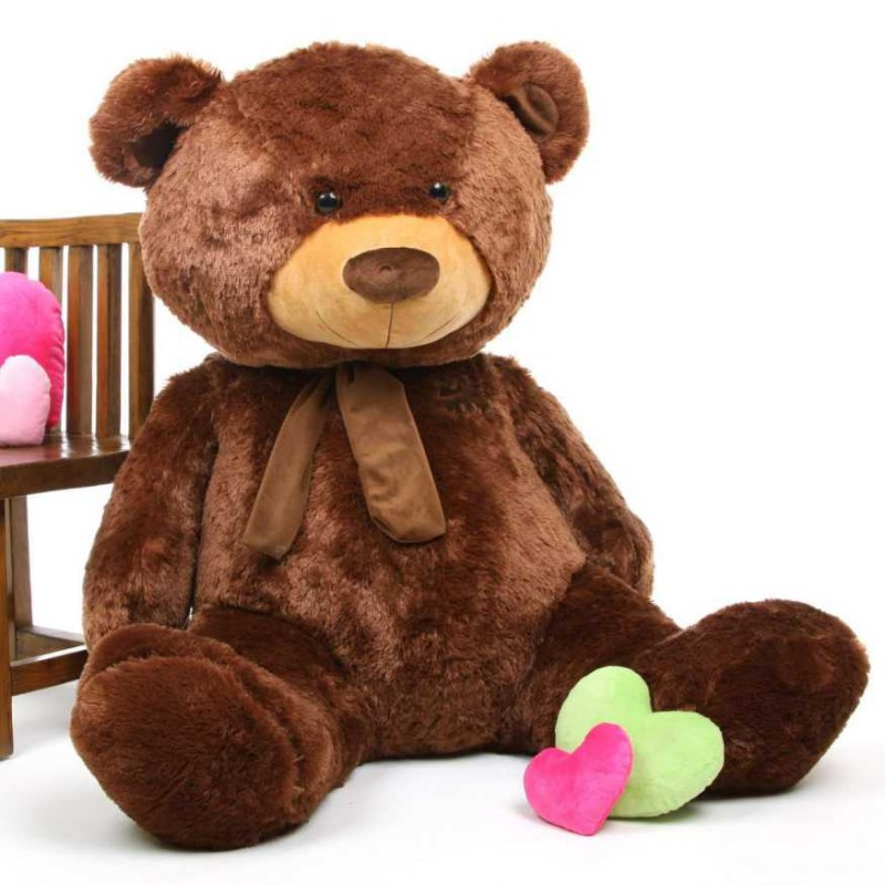 Buy Dark Brown 5 Feet Big Teddy Bear with Muffler Online ...
