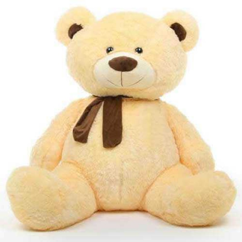 buy cream 5 feet big teddy bear with muffler online at lowest price in india grabadeal. Black Bedroom Furniture Sets. Home Design Ideas