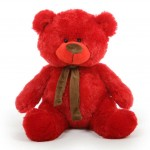 Red 5 Feet Big Teddy Bear with muffler