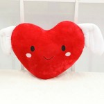Grabadeal Valentine Smiling Love Heart with wings (Red) - 30 cm