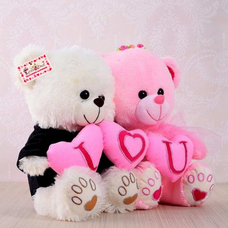 Buy grabadeal couple teddy bear holding i love you heart online at grabadeal couple teddy bear holding i love you heart white and pink 30 altavistaventures Images