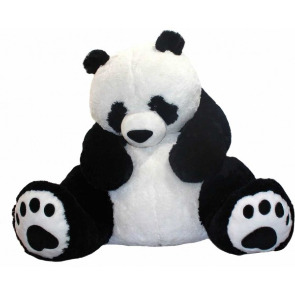 Giant 5 Feet Big Fat Papa Panda Teddy Bear Soft Toy with Embroidered Paws