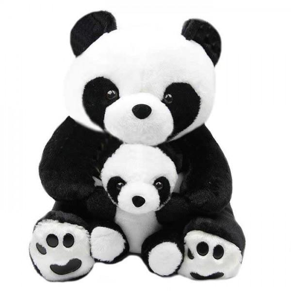 Cute Black and White Mumma Baby Panda Plush Animal Soft Toy Teddy Bear