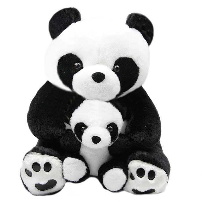 Anxiety Stuffed Animal, Buy Cute Black And White Mumma Baby Panda Plush Animal Soft Toy Teddy Bear Online At Lowest Price In India Grabadeal