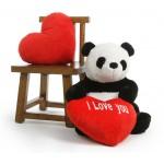 Giant 3.5 Feet Gao Panda Teddy Bear Soft Toy with Big Heart