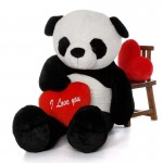 Super Giant 7 Feet Bao Panda Teddy Bear Soft Toy with Red I Love You Heart