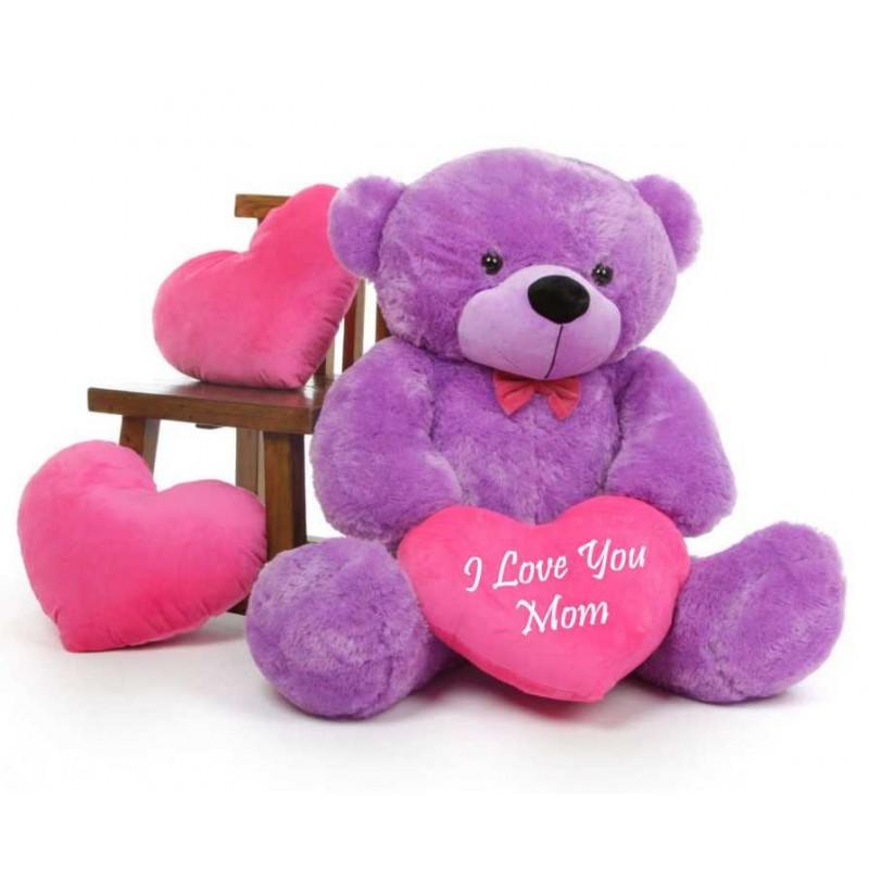 Buy 3 5 Feet Big Purple Teddy Bear With Pink I Love You