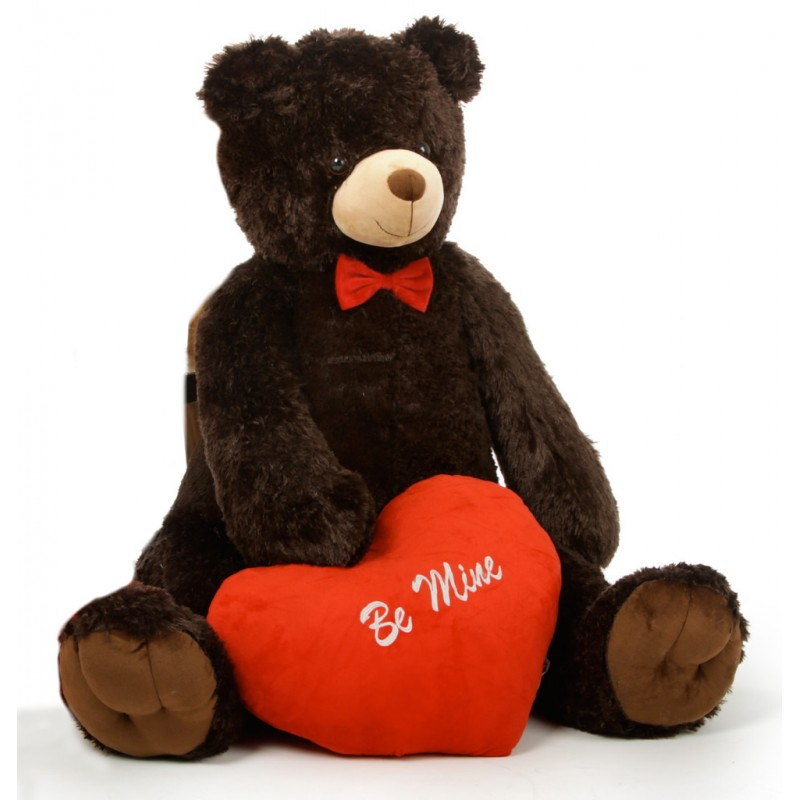 Red Teddy Bear 5 Feet, Buy Huge Dark Brown 5 Feet Bigfoot Teddy Bear With Red Be Mine Heart Online At Lowest Price In India Grabadeal