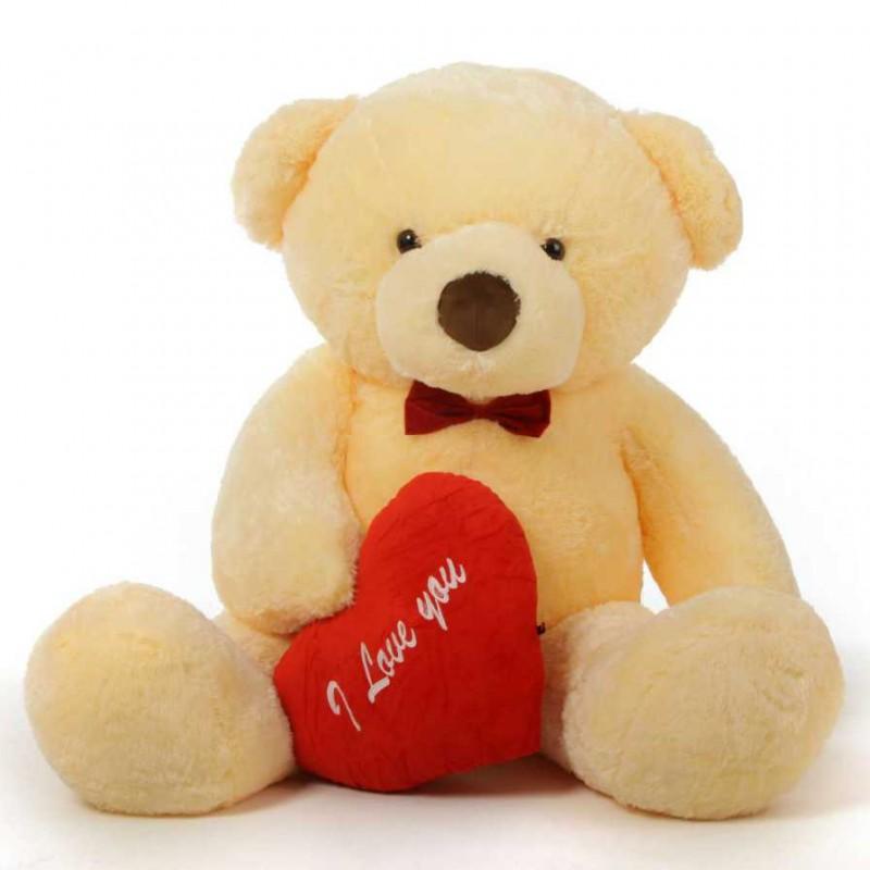 Buy 2 Feet Big Peach Teddy Bear With Red I Love You Heart