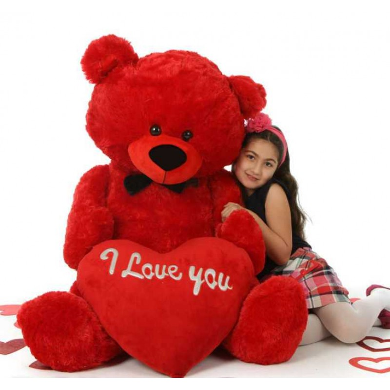 buy red 5 feet big teddy bear with big red i love you heart online at lowest price in india. Black Bedroom Furniture Sets. Home Design Ideas