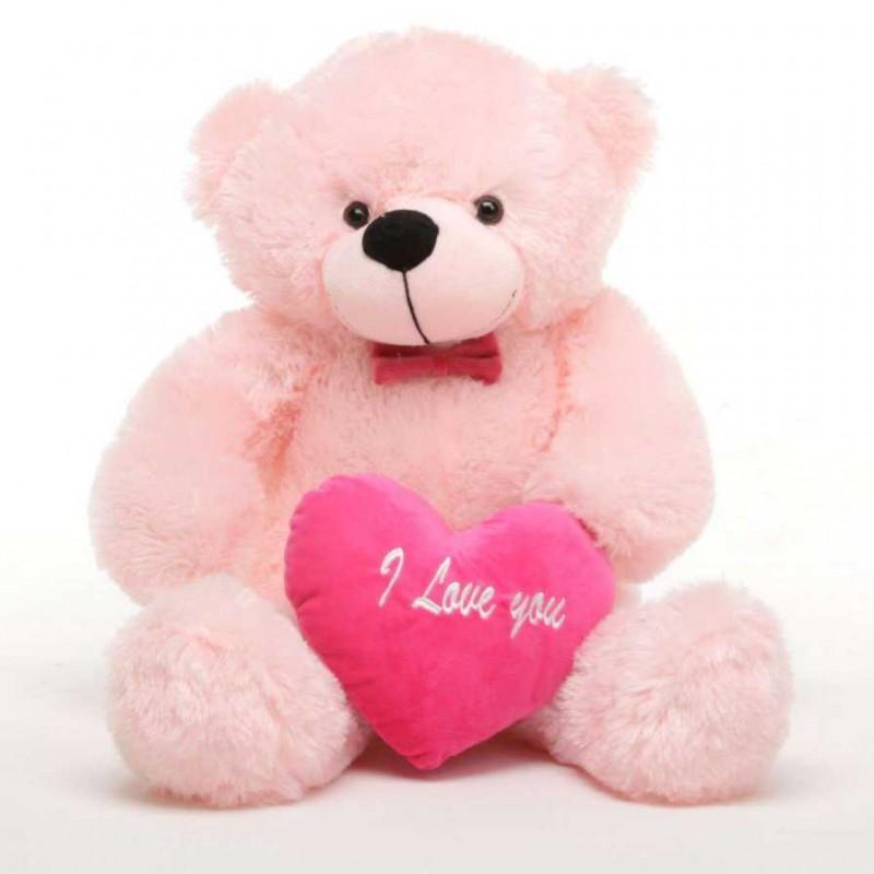 Buy 2 feet big pink teddy bear with pink i love you heart online at 2 feet big pink teddy bear with pink i love you heart altavistaventures Images