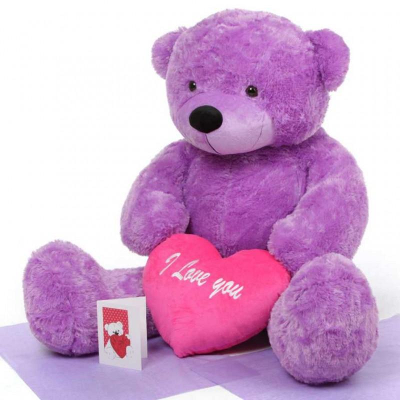 Buy 35 feet big purple teddy bear with pink i love you heart online 35 feet big purple teddy bear with pink i love you heart altavistaventures Images