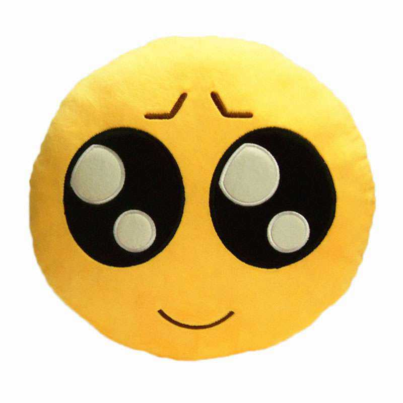 buy sympathy gainer smiley emoticon yellow round cushion online at