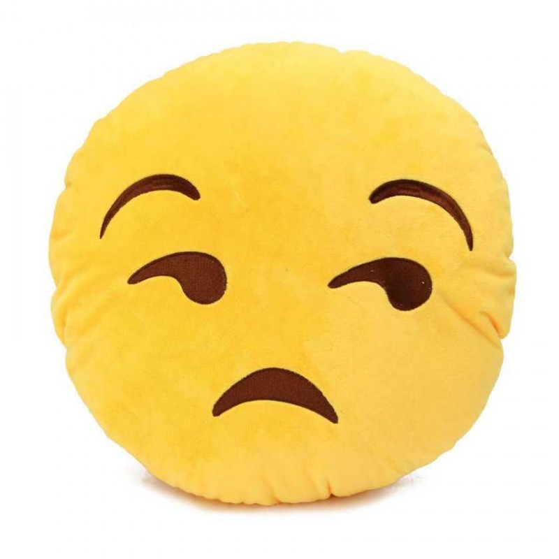Buy Lonely Smiley Cushion Looking With Side Eyes Online At