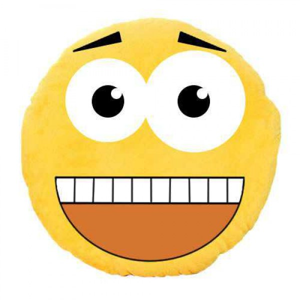 Soft Smiley Emoticon Yellow Round Cushion Pillow Stuffed Plush Toy Doll (Howdy Partner)