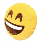 Happy Smiley Plush Cushion with a Big Smile
