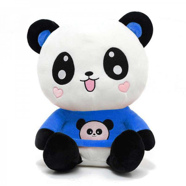 Cute Happy Panda wearing beautiful Blue Baby Panda T-shirt