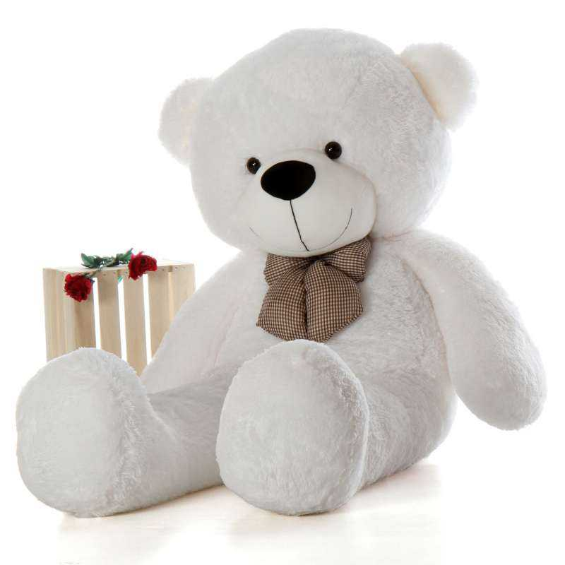 Buy Super Giant 7 Feet White Bow Teddy Bear Soft Toy Online At Lowest Price In India Grabadeal