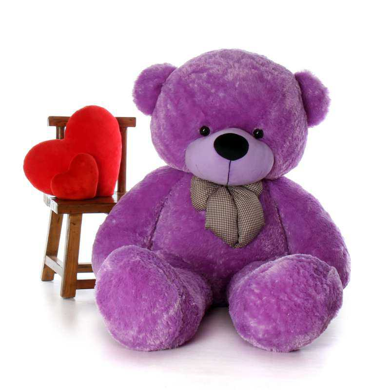 253ed4d3777 Buy Super Giant 7 Feet Purple Bow Teddy Bear Soft Toy Online at Lowest Price  in India