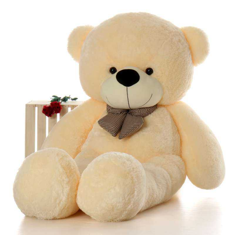 2b30fc46570 Buy Super Giant 7 Feet Peach Bow Teddy Bear Soft Toy Online at Lowest Price  in India