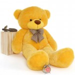 Super Giant 7 Feet Yellow Bow Teddy Bear Soft Toy