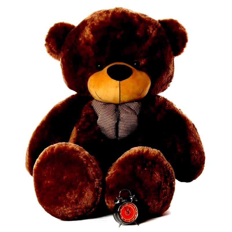 4bf31399bc7 Buy Super Giant 7 Feet Dark Brown Bow Teddy Bear Soft Toy Online at Lowest  Price in India