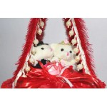 Beautiful Bed Hanging Jhoola with Love Couple Teddy Bears