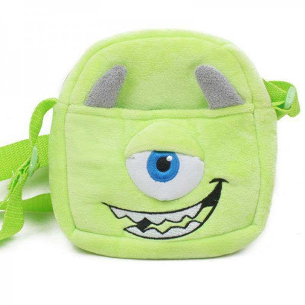 Green One Eyed Monster Sling Baby Bag Stuffed Soft Plush Toy