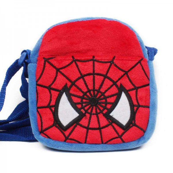 Blue and Red Spider Sling Baby Bag Stuffed Soft Plush Toy