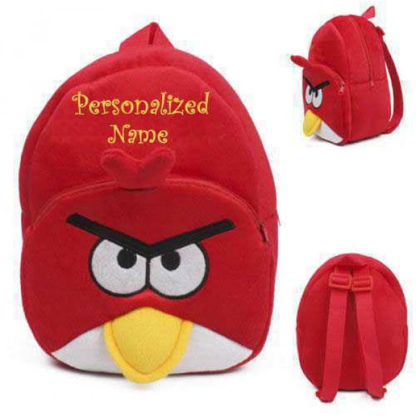 Personalized Red Bird Baby Bag Stuffed Soft Plush Toy