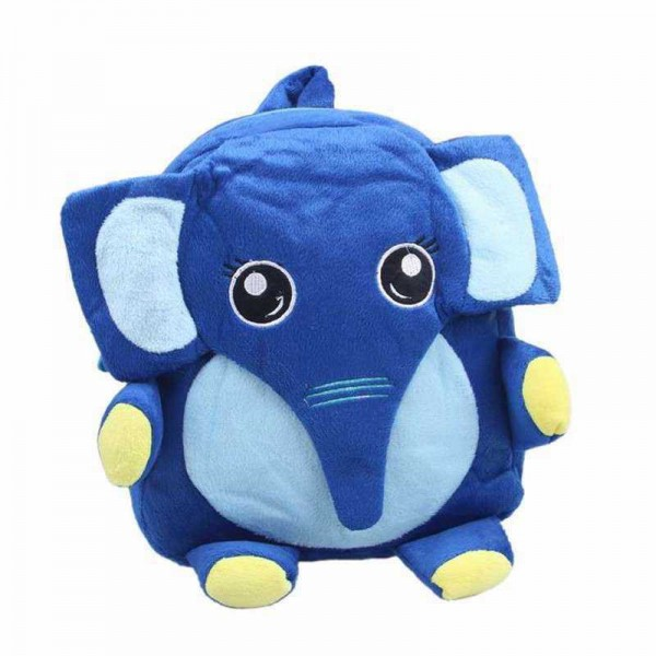 Cute Navy Blue Elephant Baby Bag Stuffed Soft Plush Toy