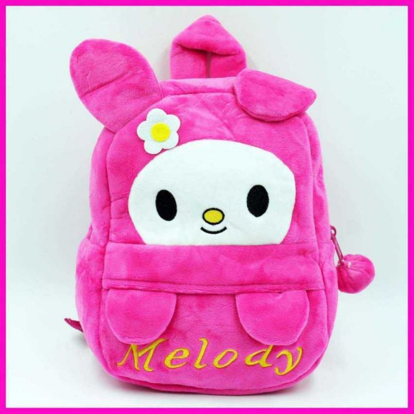 Cute Dark Pink Melody Baby Bag Stuffed Soft Plush Toy