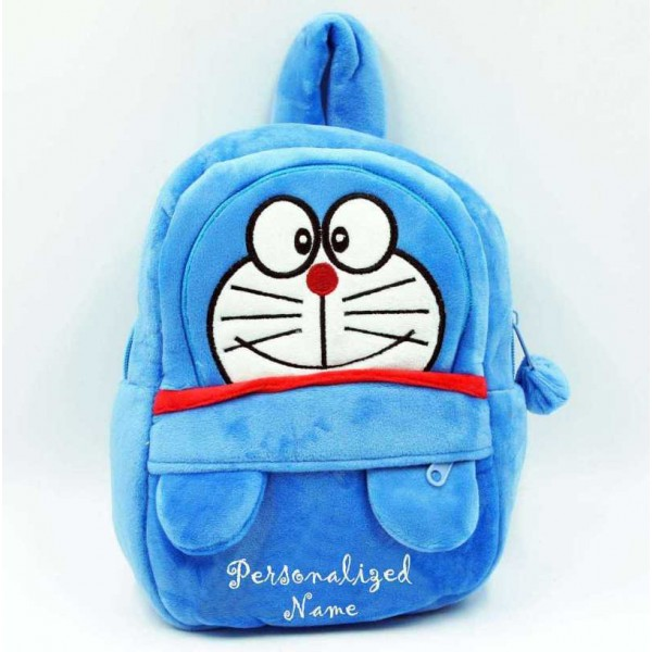 Personalized Blue Doraemon Baby Bag Stuffed Soft Plush Toy