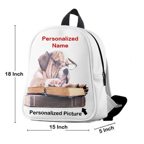 Stylish Plush Bag with Personalized Name Customized Picture and Custom Colors