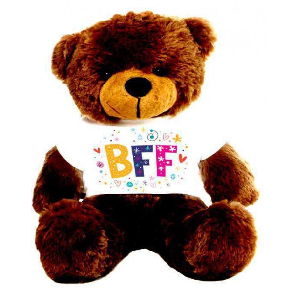 Brown 2 feet Big Teddy Bear wearing a BFF T-shirt